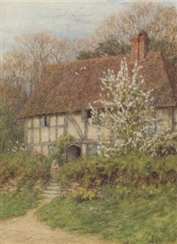 helen-allingham-a-surrey-cottage